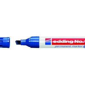 EDDING Marcador permanente recargable Trazo 1-5mm Punta biselada Azul Secado rapido 1-03