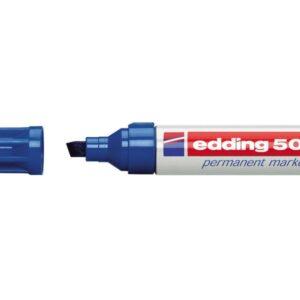 EDDING Marcador permanente 500 Trazo 2-7mm Punta biselada Azul