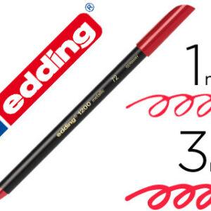 EDDING Rotulador Punta de Fibra Mod. 1200 Metallic rojo Trazo 0.5-1mm