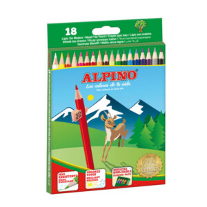 ALPINO Estuche 18 ud. lapices Colores surtidos 3,3 mm
