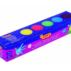 JOVI Pintura dedos Caja 5 Ud 35ml Colores Surtidos 540