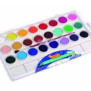 JOVI Estuche Acuarelas Colores surtidos 24 ud 22 mm 800/24