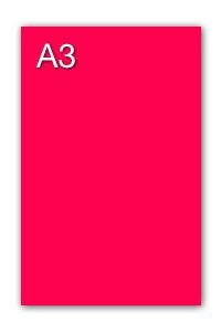 GUARRO CANSON Cartulina IRIS 50 Hojas A3 Rosa fluo 230 gr