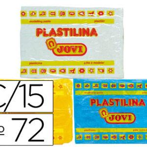 CAJA 15 PLASTILINAS COLORES SURTIDOS 350GR. JOVI 72S