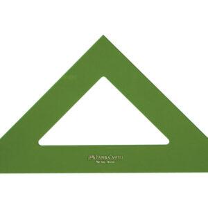 FABER CASTELL Escuadra Serie tecnica 28 cm Verde transparente No graduada Metacrilato 566-28