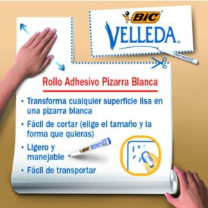 BIC Rollo adhesivo Velleda 45x 50 cm con rotulador 870491