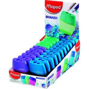 MAPED Afilalapiz Shaker Doble Azul, fucsia o turquesa Nivel llenado visible Plastico 534755
