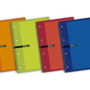 ENRI Cuaderno microperforado tapa extradura 140h A5+ Cuadricula 5×5 Surtido