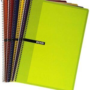 ENRI Cuaderno espiral 80h Folio Horizontal Surtido 100430107