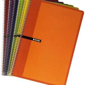 ENRI Cuaderno 80h Folio Liso Surtido 100430100