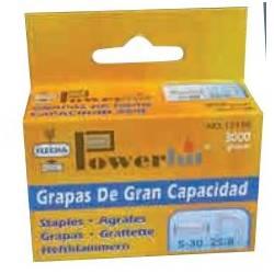 GRAPAS FLECHA POWERHIT 25/10 GRAN CAPACIDAD 10 MM CAJA DE 3000 UNIDADES