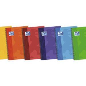 OXFORD Cuaderno School 80h 4º Cuadricula 4×4 Surtido 100430151