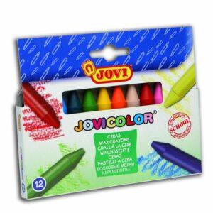 JOVI Ceras Jovicolor Caja 12 ud Redondas 980/12