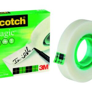 SCOTCH Cinta adhesiva Magic Invisiblemedidas 12 mm. x 33 m.ref.FT510009390