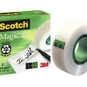 SCOTCH Cinta adhesiva Magic Invisible medidas 19 mm. x 33 m. ref.FT510030669