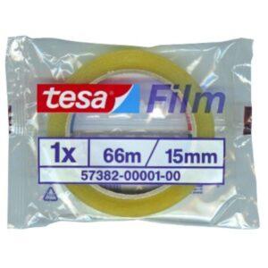 TESA Cinta  Adhesiva 15mmx66m Facilidad de corte Transparente  57382-00001-00