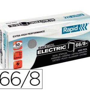 GRAPAS RAPID Nº 66/8+ GALVANIZADAS SUPER STRONG CAJA DE 5000 GRAPAS