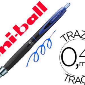 BOLIGRAFO UNI-BALL ROLLER UMN-307 RETRACTIL 0,7 MM TINTA GEL AZUL