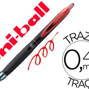 BOLIGRAFO UNI-BALL ROLLER UMN-307 RETRACTIL 0,7 MM TINTA GEL ROJO