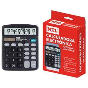 CALCULADORA SOBREMESA MEDIANA 12 DIGITOS MTL 79130