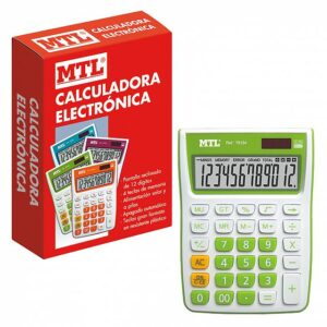 MTL CALCULADORA MEDIANA 12 DIGITOS COLOR VERDE