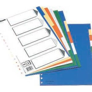 ESSELTE Separador 10 posiciones Folio colores