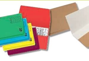 GIO Subcarpetas Caja 25 ud Pocket Folio Cartulina Con bolsa fuelle Amarillo 250 G 400018768