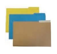 GIO Subcarpetas Caja 50 ud Folio Cartulina Pestaña central Amarillo 400018734