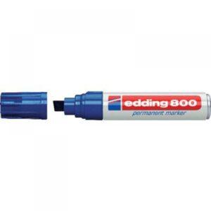 EDDING Marcador permanente Edding 800 Trazo 4-12mm Punta biselada Azul