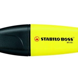 STABILO Marcador fluorescente Boss Mini Trazo 2-5 mm Punta biselada Tinta universal Amarillo 07/24
