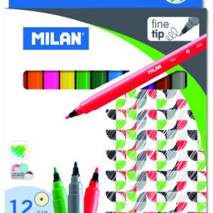 MILAN Caja 12 rotuladores punta fina colores