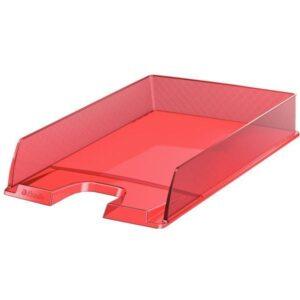 ESSELTE Bandeja sobremesa Europost 254x61x350 Rojo transparente