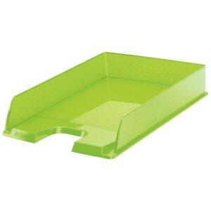 ESSELTE Bandejas sobremesa Europost 254x61x350 Verde Poliestireno Apilable 623597