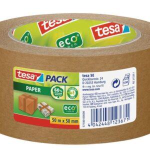 TESA Cinta  Papel Kraft 50mm x 50m Desbobinado facil Alta adhesividad  57180-00000-02