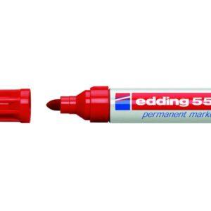 EDDING 550 MARCADOR PERMANENTE PUNTA CONICA TRAZO 3-4 MM. RECARGABLE ROJO REF. 550-02