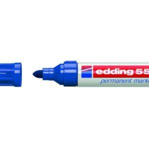 EDDING Marcador permanente recargable 550 Trazo 3 – 4 mm Azul Punta cónica 550-03