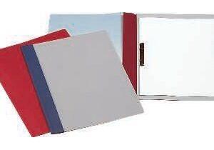 ESSELTE Caja 50 dossier con fastener Fº rojo