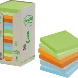 POST-IT Torre notas adhesivas Pack 16 blocs Colores pastel surtidos 76x76mm FT510110354