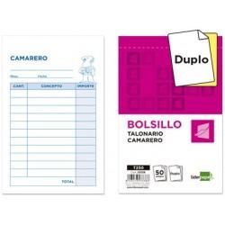 TALONARIO DE CAMARERO BOLSILLO 9X14 DUPLICADO A-140 CATALAN APLI 12722