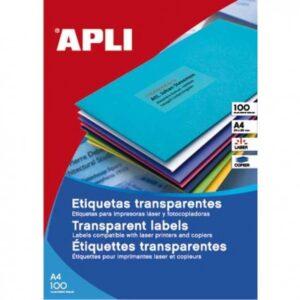 APLI PACK 20H Etiquetas Translúcidas Mate 105,0 x 148,0 mm