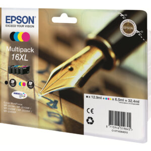 EPSON cartucho inyección pk-4 CMAN 16XL WF-2010W/2510WF/2520NF/2530WF/2540WF C13T16364012