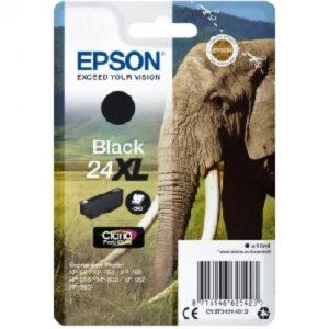 EPSON cartucho inkjet negro CLARIA PHOTO 24XL 500P XP-55/760/850/860/950/960 C13T24314012
