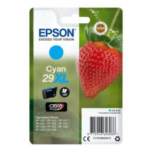 EPSON cartucho inyección cián 6,4ml 450 páginas 29XL XP-235/332/335/432/435 C13T29924012