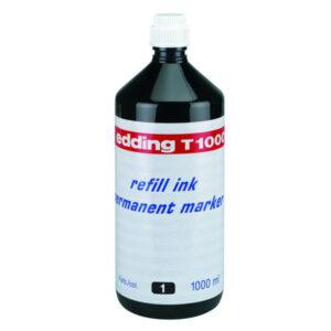 EDDING Frasco de Tinta  T-1000 negro 1000 ml T1000-01