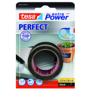 TESA Cinta de tejido extra power perfect 2,75mx38mm negra 56344-00013-03