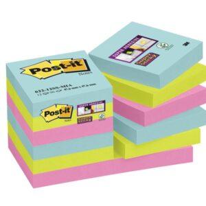 POST-IT Pack.12 bloc 47,6×47,6 Miami 70005290849