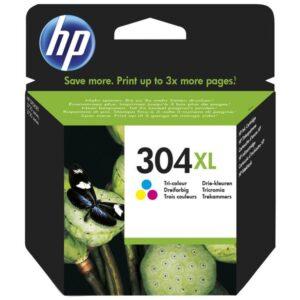 HP Cartucho tinta Tri-color 304XL