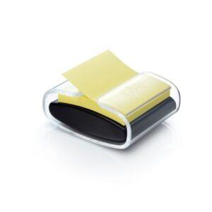 POST-IT Dispensador z-notes negro 76×76 mm + bloc amarillo