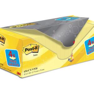 POST-IT Pack.16+4 bloc 76×76 am