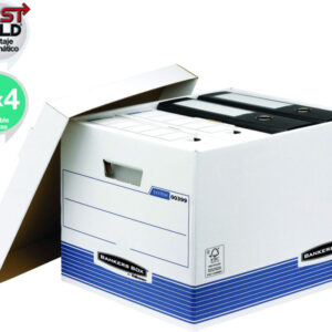 FELLOWES Contenedor doble grosor de cartón con tapa, 28,70x38x43 cm 0030901